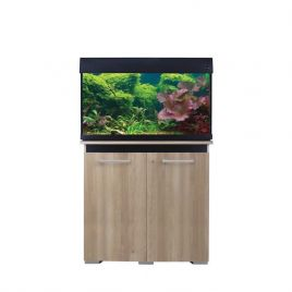 Aqua One AquaVogue 135 Aquarium and Cabinet - Nash Oak and Black