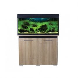 Aqua One AquaVogue 170 Aquarium and Cabinet - Nash Oak and Black