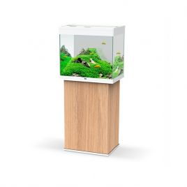 Ciano Emotions Pro 60 Aquarium and Cabinet - Amber Wood and White