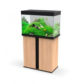 Ciano Emotions Pro 80 Aquarium and Cabinet - Amber Wood and Black
