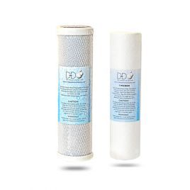 "D-D 10"" Replacement Sediment and Block Carbon Cartridge Filter TWIN PACK  (50/75/125)"