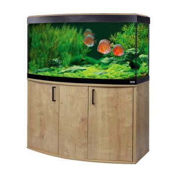 Fluval Vicenza 260 LED Aquarium and Cabinet - Oak