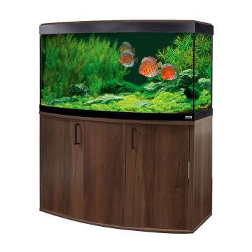 Fluval Vicenza 260 LED Aquarium and Cabinet - Walnut