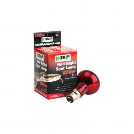 ProRep Red Night Spotlamp 100w - BC (Bayonet)
