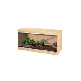 Vivexotic Repti-Home Vivarium - Medium Oak 86 x 37.5 x 42cm