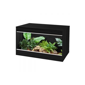 Vivexotic Repti-Home Vivarium - Maxi Medium Black 86x49x56cm