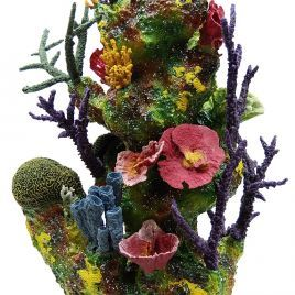 Living Color Neptune Pillar With Coral and In-Reef Plumbing