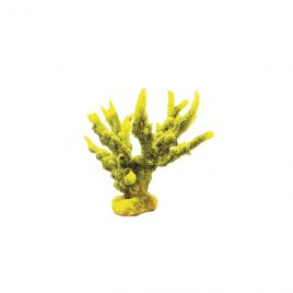 Natureform Artificial Staghorn Branch Yellow/Purple - Acropora