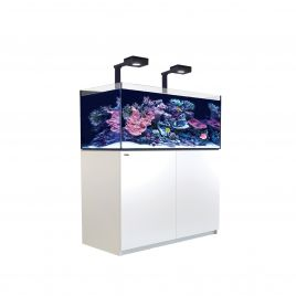 Red Sea Reefer XL 425 Deluxe Aquarium (White) - 2 x ReefLED 90