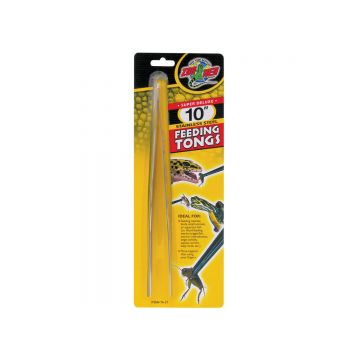 Zoo Med 10in Stainless Steel Feeding Tongs