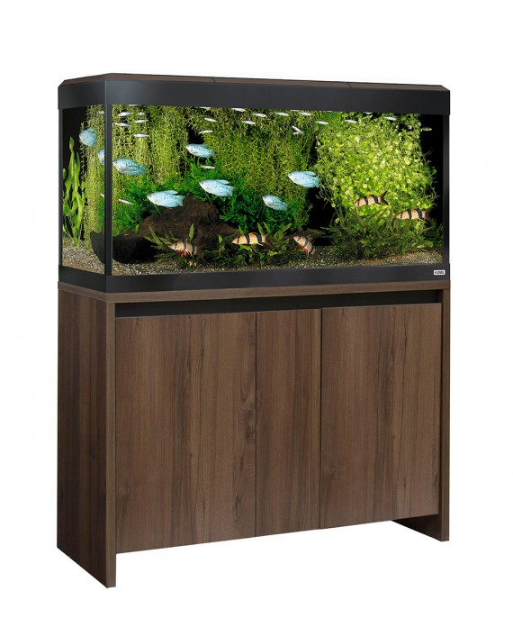 Fluval Roma LED 200 Aquarium and Cabinet - Walnut
