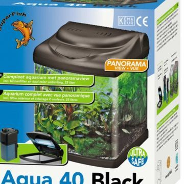 SuperFish Aqua 40 Black Aquarium
